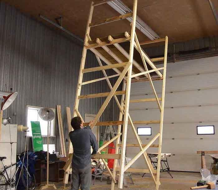 Технологические карты на инвентарные металлические, деревянные леса при ремонте оборудования