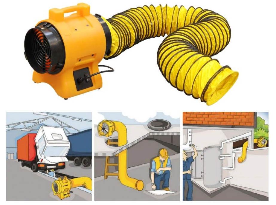 Организация вентиляции при работах в ОЗП - ограниченном замкнутом пространствах
